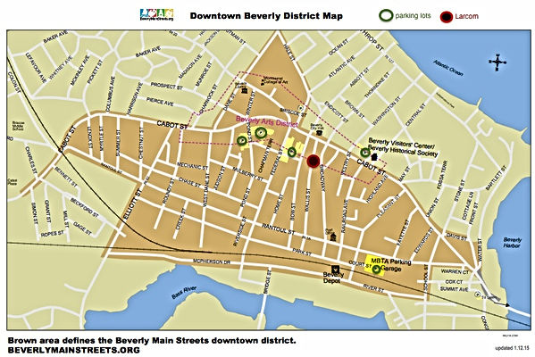 Downtown Beverly Map