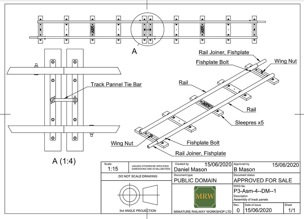Miniature Railway Workshop Track Design - GLMR Portable Miniature Railway Hire