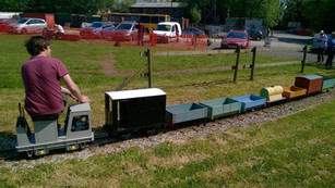 Scamp pulling goods trains