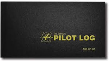 Pilot Log Book, Black ASA-SP-30 Hard cover