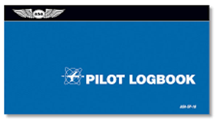 Aviation Supplies & Academics ASA-SP-10 Blue Softcover Pilot Log Book