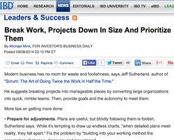 Break Work, Projects Down In Size