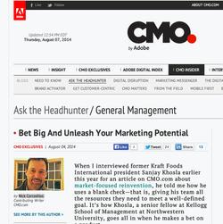 CMO.com, Sanjay Khosla