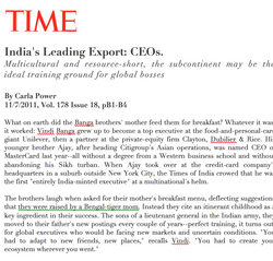 Time - India's Leading Export: CEOs