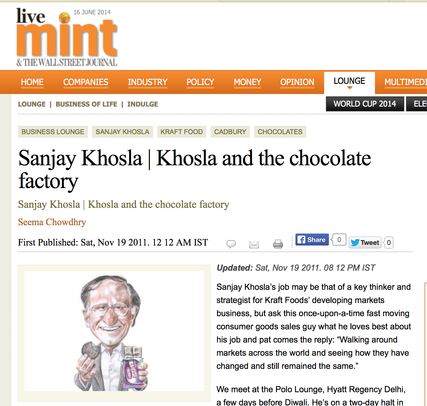 Khosla and the chocolate factory
