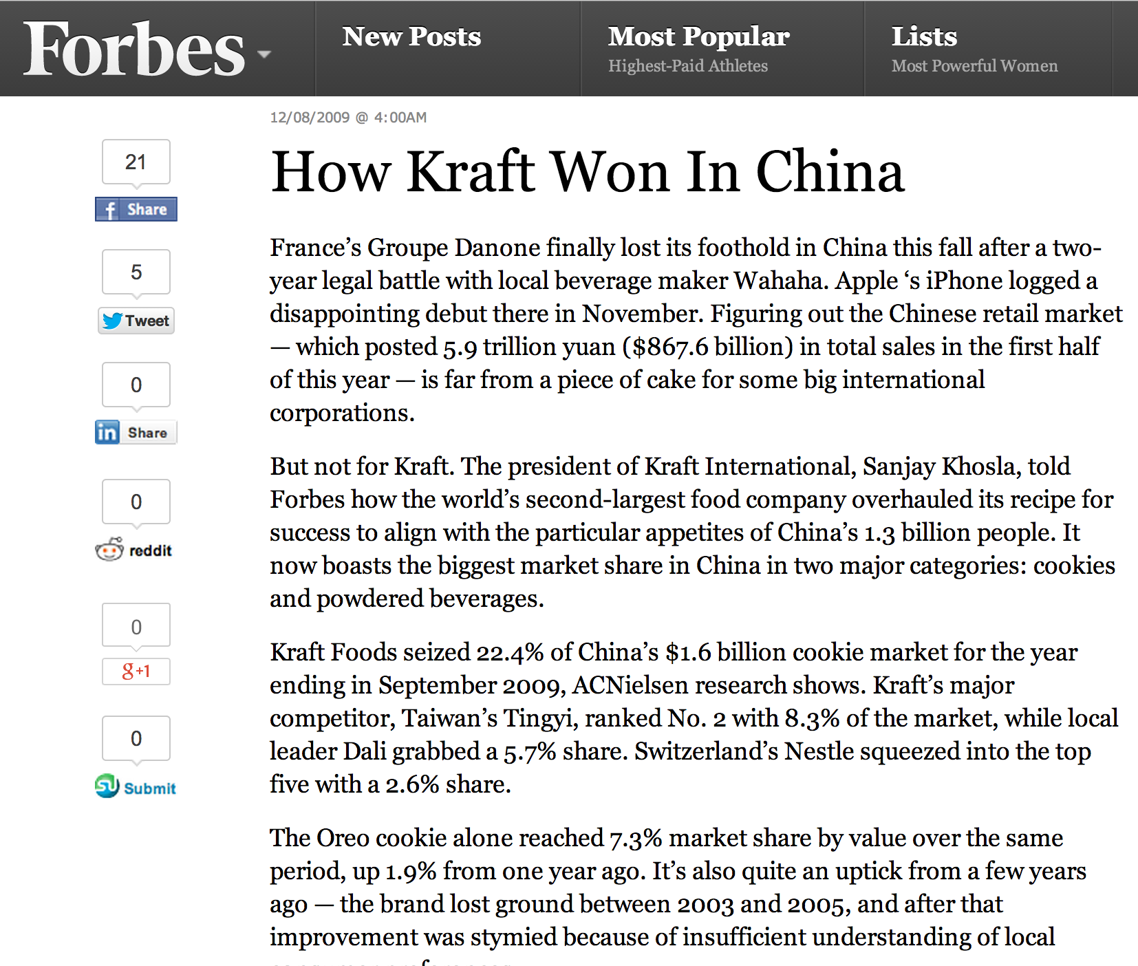 How Kraft Won In China