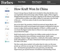 How Kraft Won In China