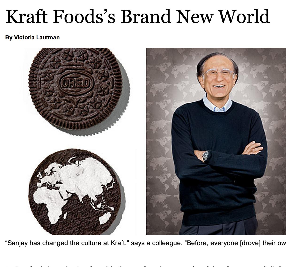 Kraft Foods's Brand New World