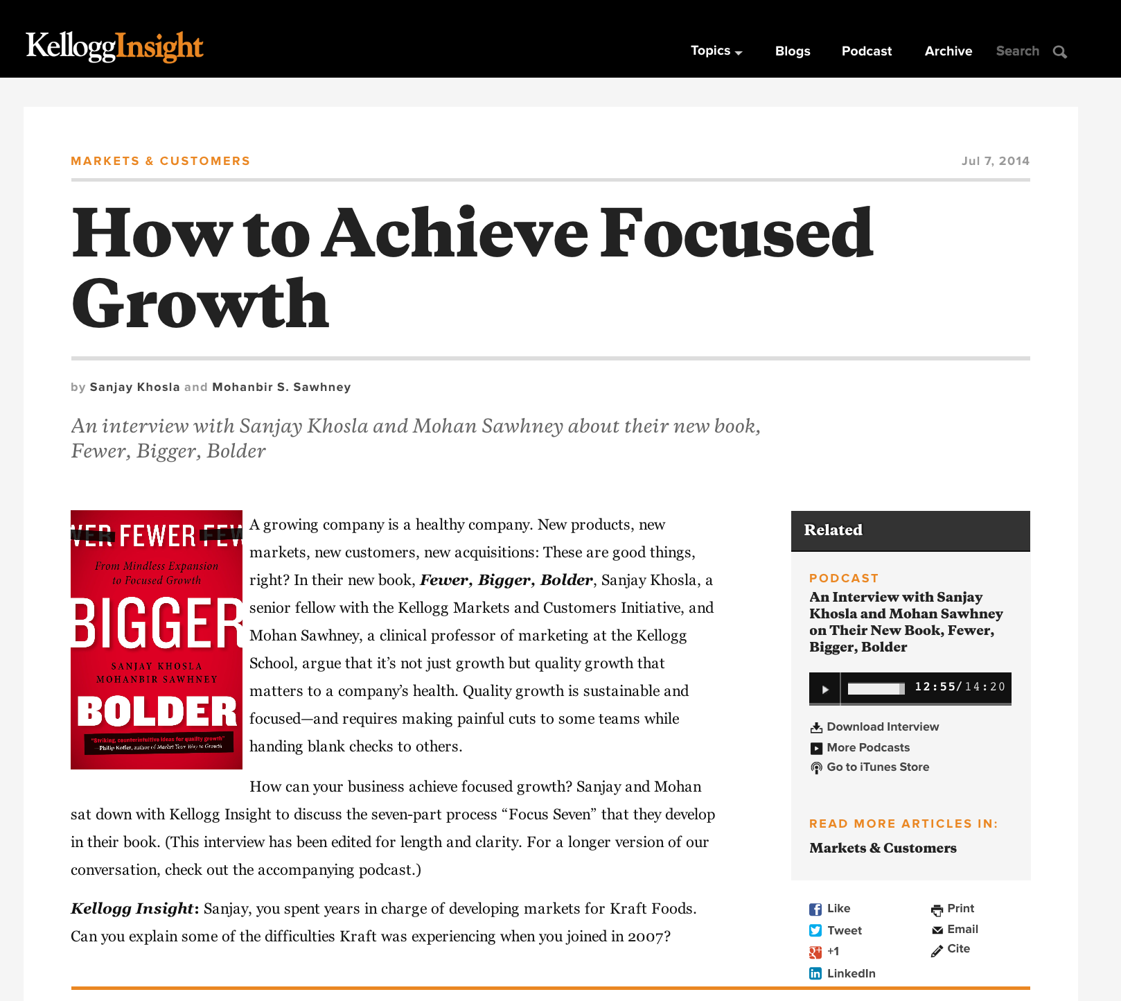 How to Achieve Focused Growth