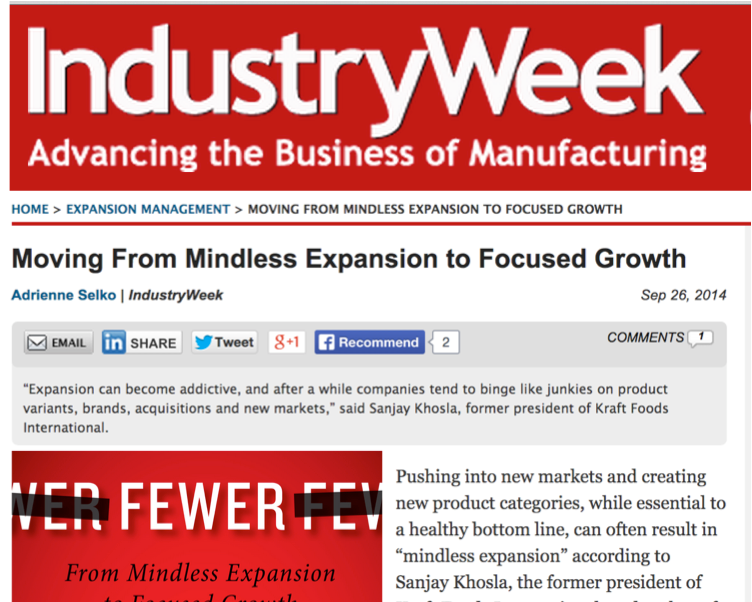 Mindless Expansion to Focused Growth