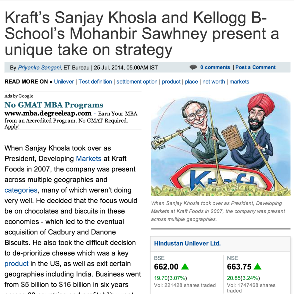 The Economic Times, Sanjay Khosla
