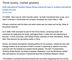 Think locally, market globally