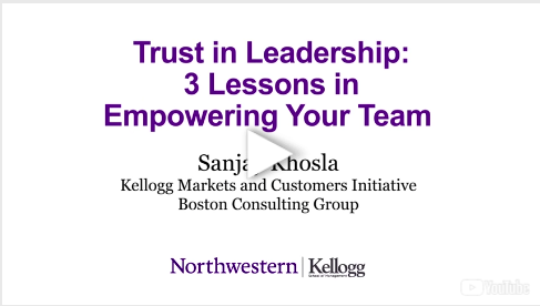 Trust in Leadership: 3 Lessons