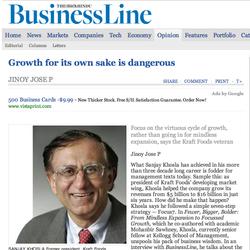 Hindu Business Line, Sanjay Khosla