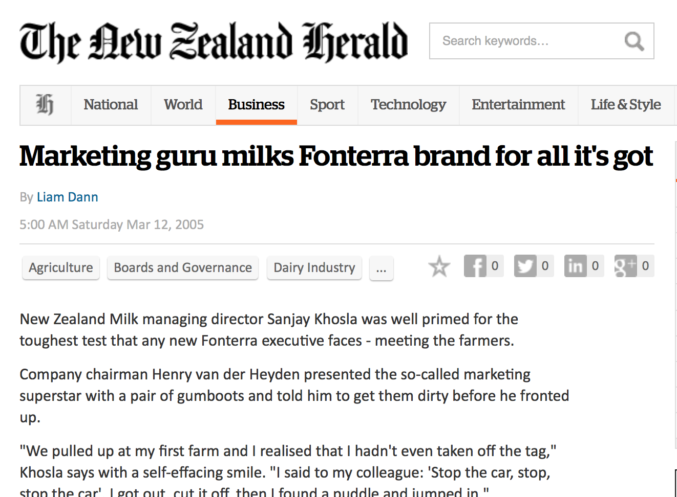 Marketing guru milks Fonterra brand