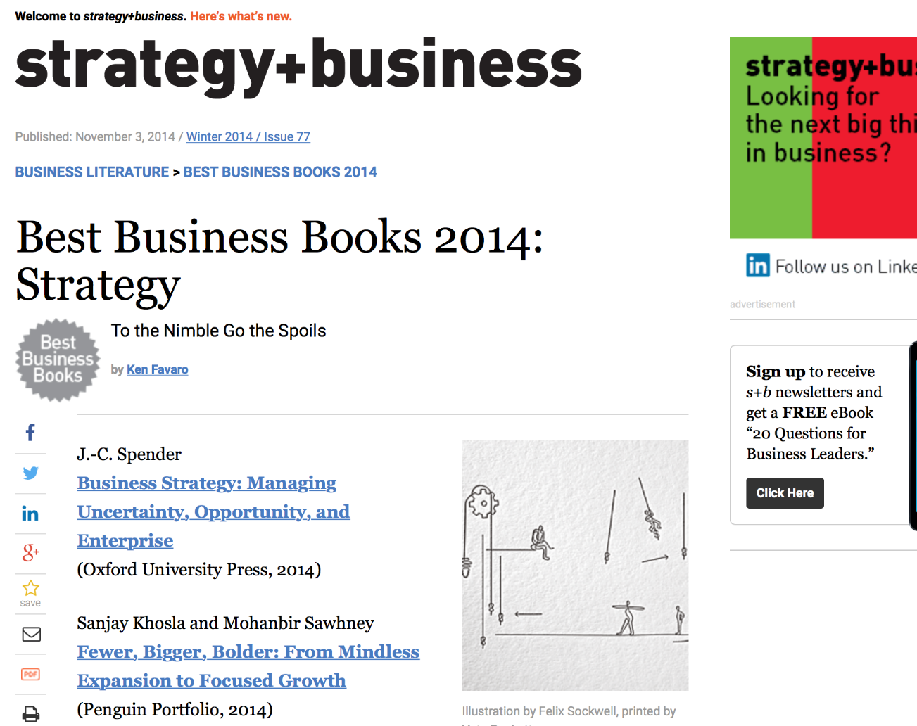 2014 Best Business Books: Strategy