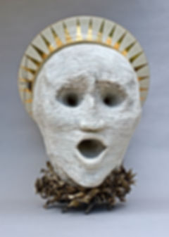 Porcelain bronze sculpture