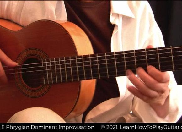 Key of E Phrygian Dominant Flamenco Improvisation