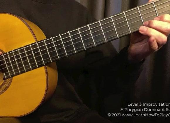 Key of A Phrygian Dominant Flamenco Improv