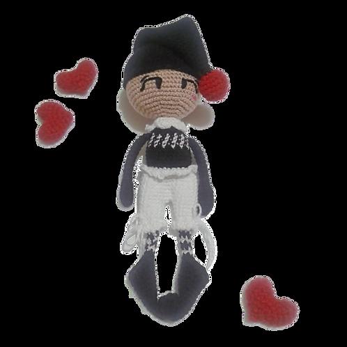 Amigurumi Boneco Pierrot