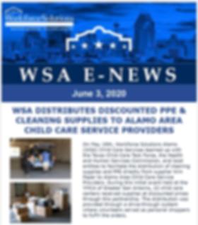 WSA JUNE 2020 Newsletter