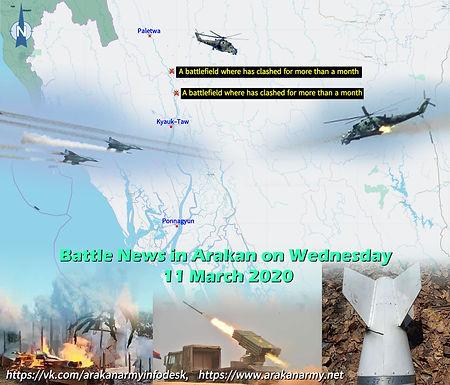 Battle News in Arakan on Wednesday 11 March 2020