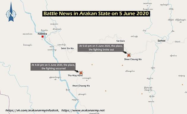 Battle News in Arakan State on 5 June 2020