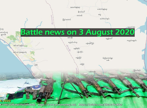 Battle news on 3 August 2020