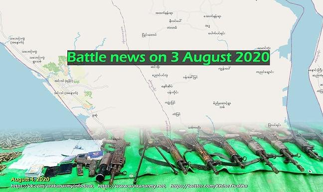Battle news on 3 August 2020
