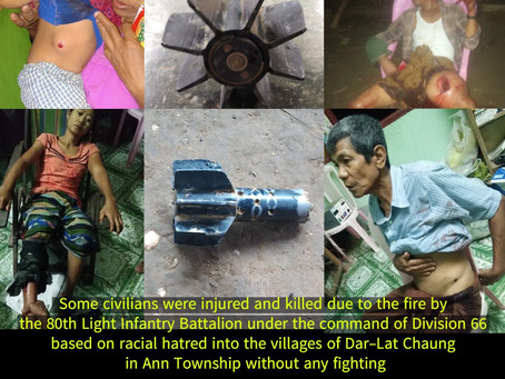 Some civilians were injured and killed due to the fire by Myanmar Army