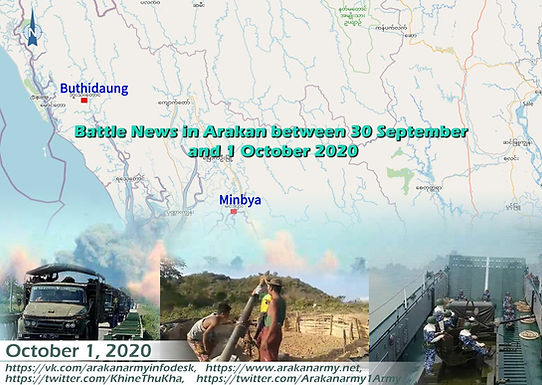Battle News in Arakan between 30 September and 1 October 2020