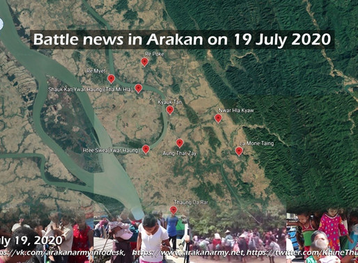 Battle news in Arakan on 19 July 2020