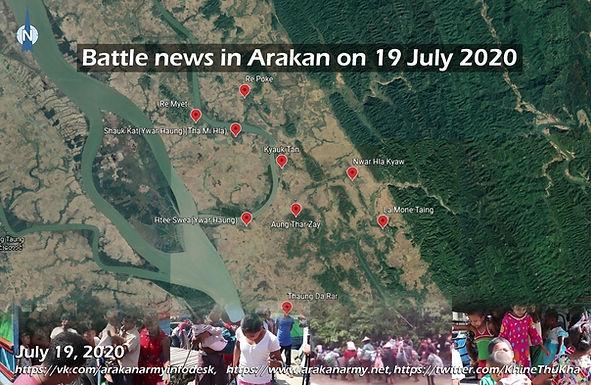 Battle news in Arakan on 19 July 2020