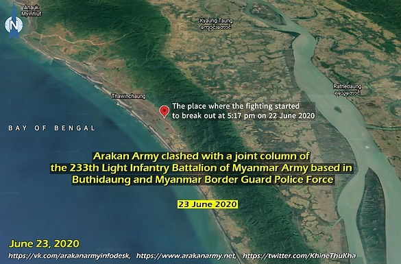 Arakan Army clashed with Myanmar Army based in Buthidaung and Myanmar Border Guard Police Force