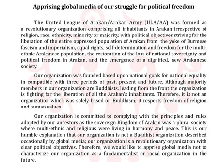 Apprising global media of our struggle for political freedom