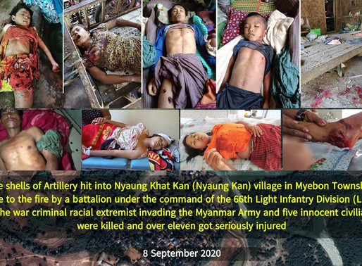 The Burmese Army's 66th Brigade fired heavy artillery shells, killing and injuring civilians