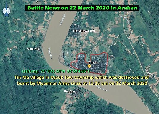 Battle News on 22 March 2020 in Arakan