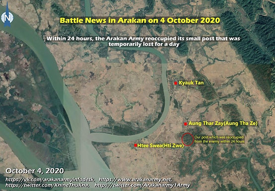 Battle news in Arakan on 4 October 2020