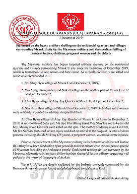 Statement on the heavy artillery shelling on the residential quarters and villages
