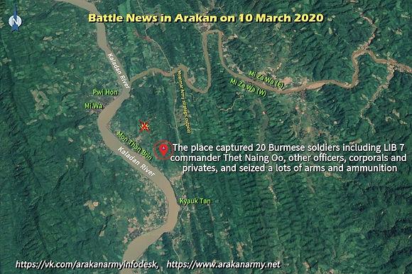Battle News in Arakan on 10 March 2020