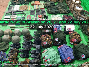 Battle News in Arakan on 20, 21 and 22 July 2020