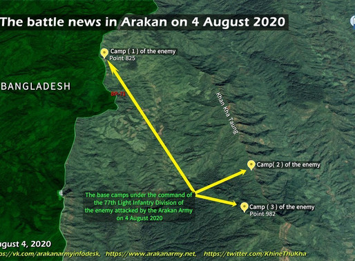 The battle news in Arakan on 4 August 2020