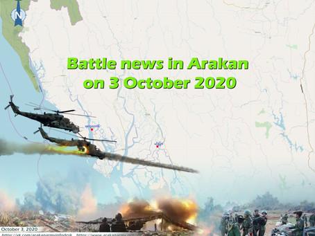 Battle news in Arakan on 3 October 2020