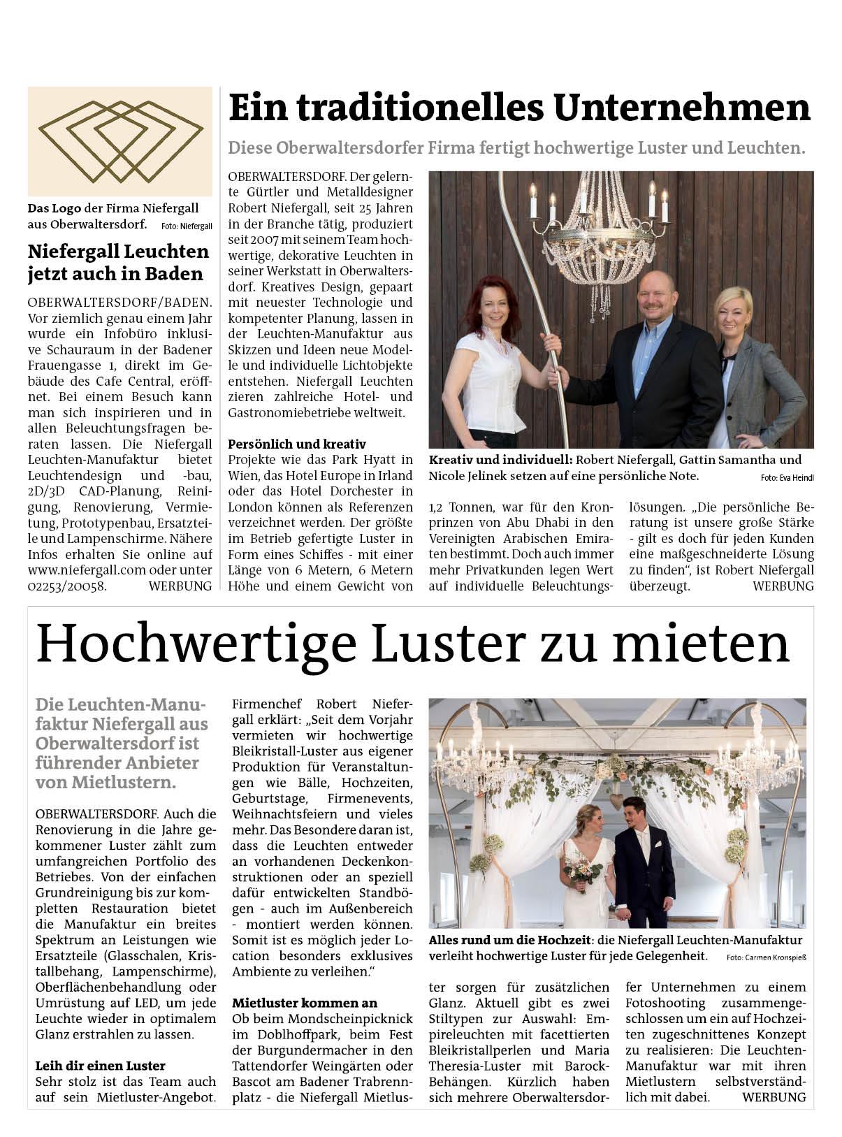 Bezirksblätter Baden 18/2017