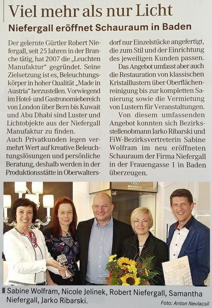 Badener Zeitung Juli 2016