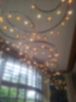 Vogelschwarm Lichtobjekt  Murano