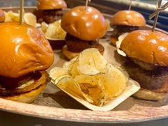 Foie Gras Sliders and Rosemary Potato Chips
