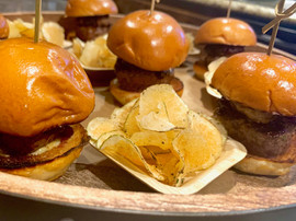 Foie Gras Sliders and Rosemary Potato Chips