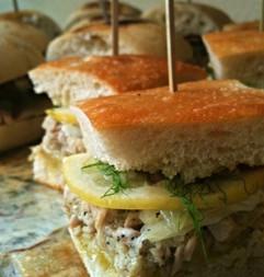 Olive Oil Poached Tuna Sandwich