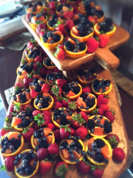Orange Fruit Cups